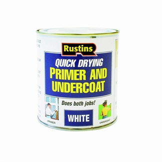 Rustins Primer & Undercoat Wood MDF White Quick Dry Under Coat Paint Base - 3 Sizes