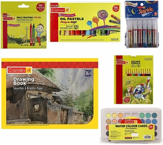 Coloring Kit Combo Kids Art & Crafts Creativity Painting Gift Set Drawing Book