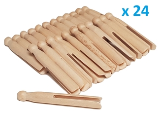 Home Supplies Direct HSD Traditonal Wooden Dolly Pegs Cloths Garment Peg Washing Lines Natural Craft Beech Wood