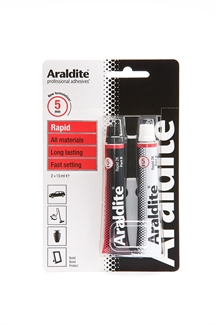 Araldite Rapid Two Part Epoxy Power 2 x 15ml Tubes Fast Setting Adhesive