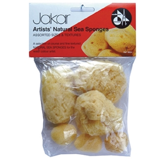 Jakar Natural Sea Sponge Fine & Course Assorted Size and Texture