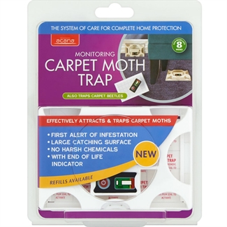 Acana Carpet Monitoring Moth Trap Effective Attracts + Traps Moths last 8 week
