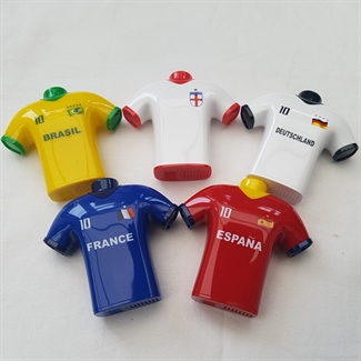 Novelty Football T-Shirt Pencil Sharpener International Cup Double Hole Colour