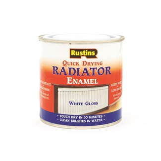 Rustins Quick Dry Radiator Paint Gloss Enamel Metal Paint Panel Heaters - 2 Sizes