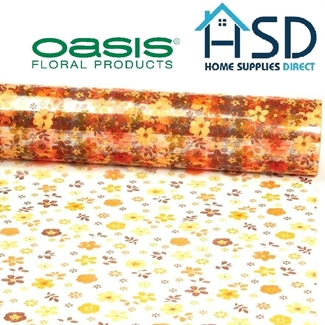80cm Cellophane Autumn Floral Film Roll Gift Wrap Scattered Flower Celophane