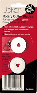 Jakar 28mm Rotary Cutter Straight Cut Spare Replacment Blades For Quilters Sewing Fabric Craft Quilting Cutting Tool (2 Pieces)