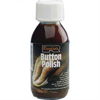 Rustins Button Polish 125ml Pure Shellac Quality Wood Furniture Finishing