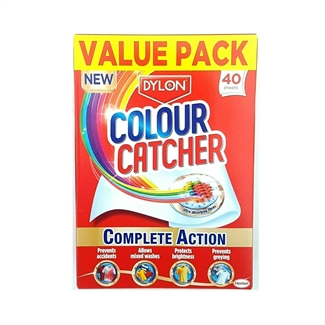 Dylon Colour Catcher Prevent Colour Run Wash/ Laundry Value Pack- 40 Sheets