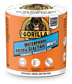 Gorilla White Tape Waterproof Patch Seal Strong Rubberised Roof Leak Repair