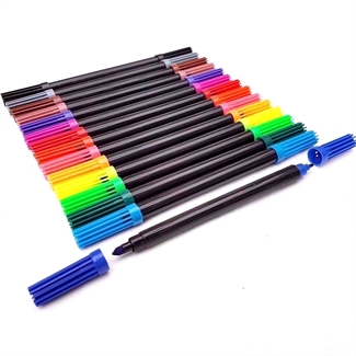 12pcs Dual Tip Double Ended Felt Tipped Pens Fine & Thin