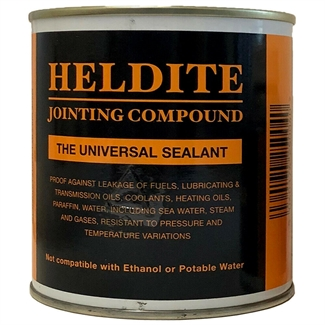 Heldite Gasket Jointing Compound & Universal Sealant. Thread Lock. Pipe seal 500ml + Brush