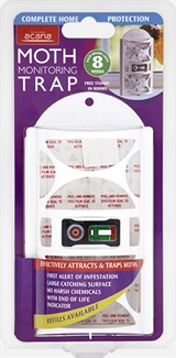 Acana Monitoring Clothes Moth Trap - Attracts and Traps Moths Chemical Free