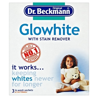 DR. Beckmann Glowhite Intensive Laundry Whitening Stain Remover Clothes 3 x 40g