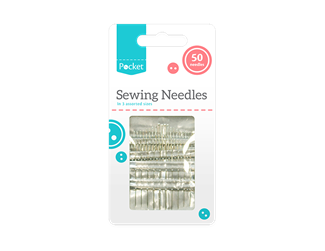 50 Assorted Hand Sewing Needles Craft Embroidery Upholstery Canvas Leather Pins