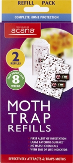 Acana Moth Trap Refills Last 8 weeks Attracts and Traps - 2 pack