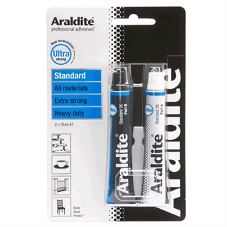 Araldite Standard Heavy Duty Ultra Extra Strong Adhesive Glue 2 x 15ml Tubes