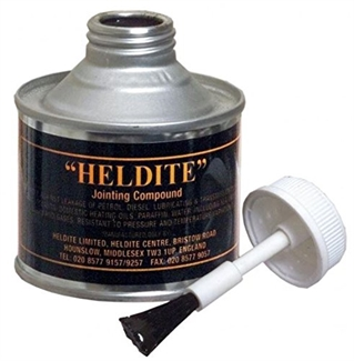 Heldite Gasket Jointing Compound & Universal Sealant. Thread Lock. Pipe seal 125ml + Brush