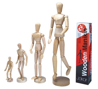 Jakar Wooden Manikin Mannequin Moveable Adjustable Limbs Human Hand Male Artist