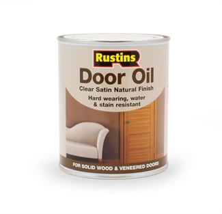 Rustins Door Oil Interior Solid Veneered Natural Wood Doors Clear Satin 750ml