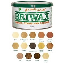 Briwax Original Natural Wax Polish Wood Furniture Cleaner Stain Restorer- 400g